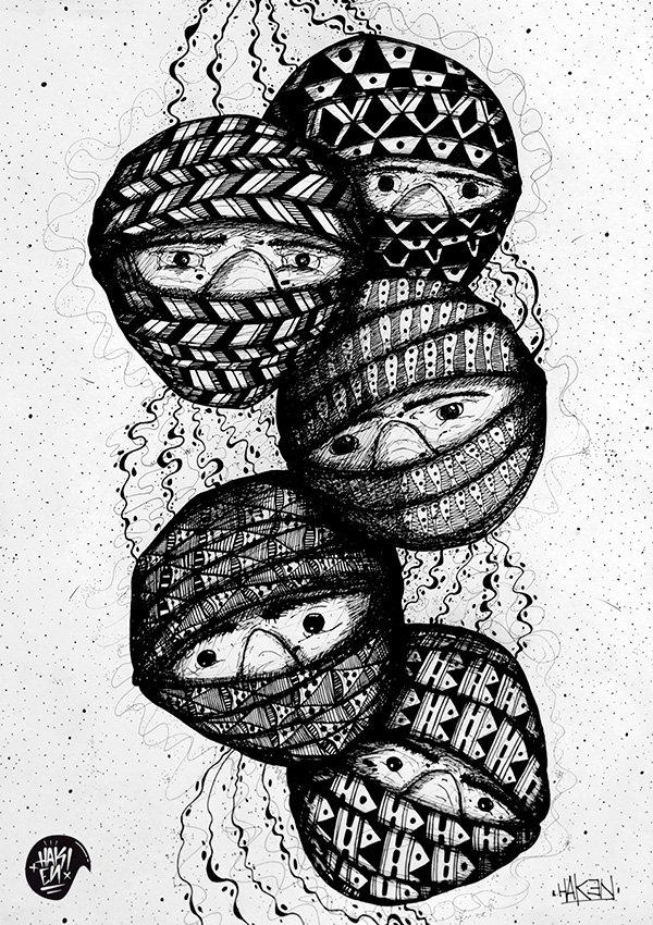 Hak3n Artista Gráfico - Entre las tinieblas